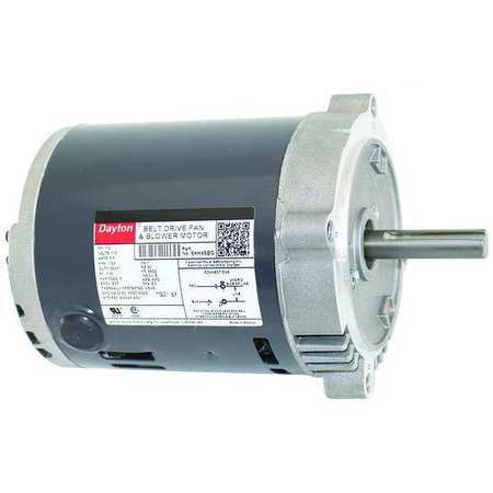 Belt Drive Mtr, SplitPh, ODP, 1/4HP, 1725rpm