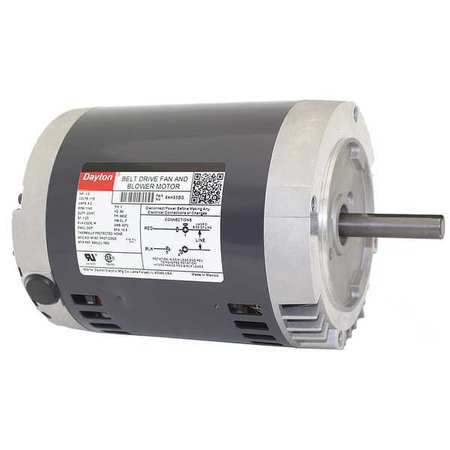 Belt Drive Mtr, SplitPh, ODP, 1/2HP, 1140rpm