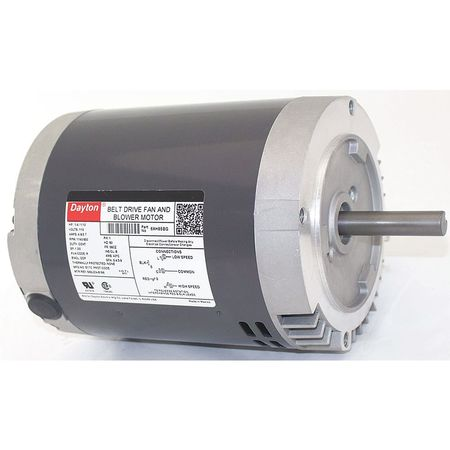 Belt Drive Mtr, SplitPh, ODP, 1/4HP, 1140rpm