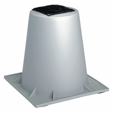 Heat Pump Riser,  12 In., Gray