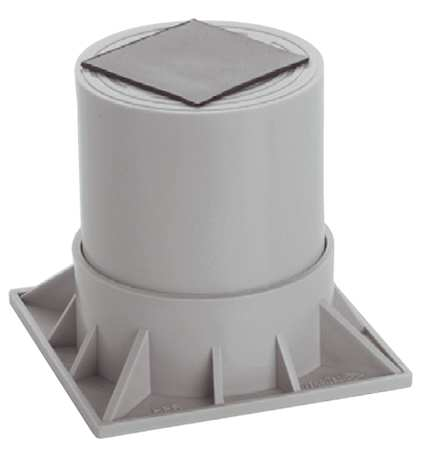 Heat Pump Riser, Two Piece,  6 In., Gray