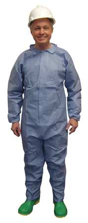 Disposable Coverall, Blue, XL, PK25