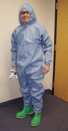 Disposable Coverall, Blue, 3XL, PK25