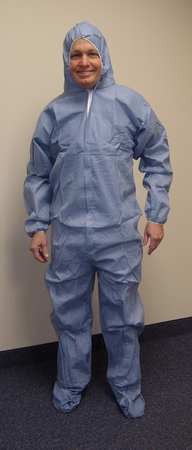 Disposable Coverall, Blue, L, PK25