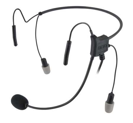 Headset, Behind the Head, In Ear, Black