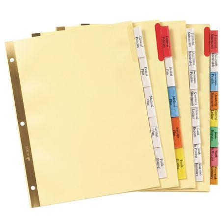 avery big tab insertable plastic dividers 11901 8 multicolor tabs 1 set