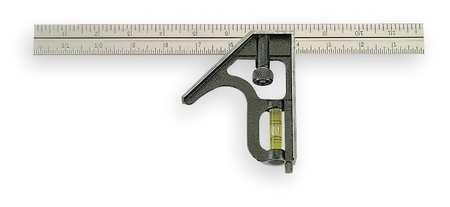 Combination Square, 12 In, Zinc Head