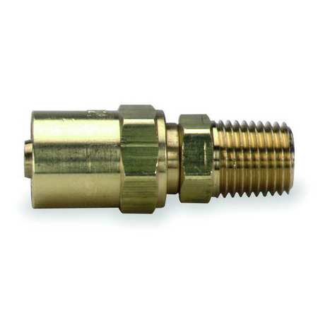 Hose End, For ID 1/4 In, 1/4 In NPT, Brass