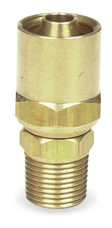 Hose End, For ID 3/8 In, 3/8 In NPT, Brass