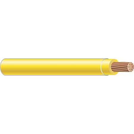 Building Wire, THHN, 12 AWG, Yellow, 2500ft