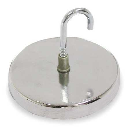 Round Base Hook Magnet, Max Pull 20 Lb
