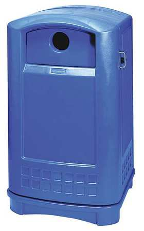 Recycling Container, Blue, 50 gal.