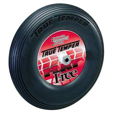 Wheelbarrow Tire, Ribbed, 16 In. Dia.