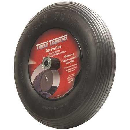 Wheelbarrow Tire, Ribbed, 16 In. Dia.