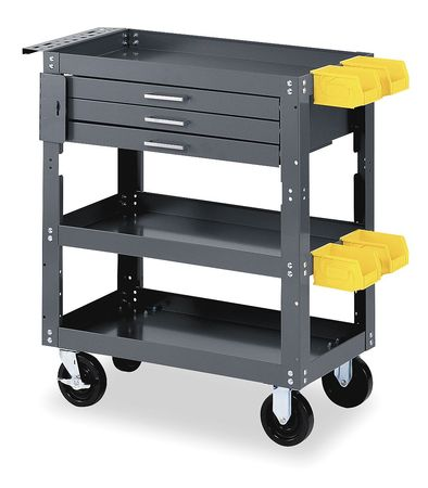 Mobile Workbench Cabinet, 16 In. L, Gray
