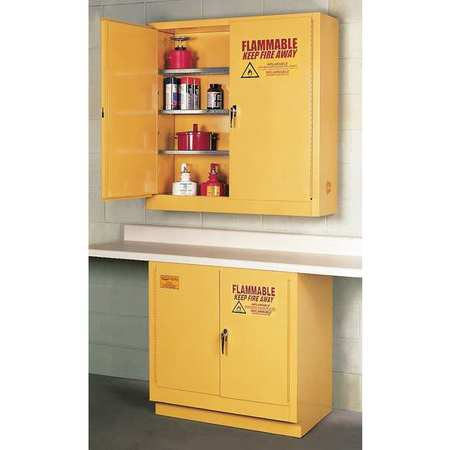 Flammable Safety Cabinet, 22 Gal., Yellow