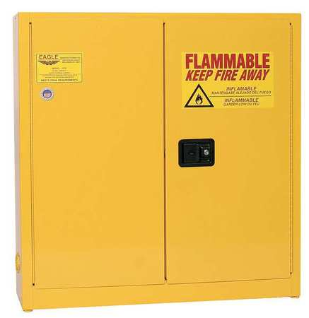 Flammable Safety Cabinet, 24 Gal., Yellow