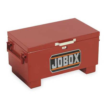 "jobsite tool box, 15-1/2""h, 31""w, 18""d, brown jobox 651990d 