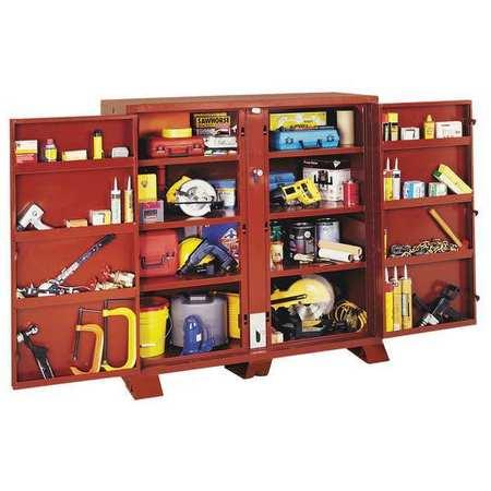 Jobox Jobsite Storage Cabinet, 72 in. Wx24 in.D 1-693990 | Zoro.com