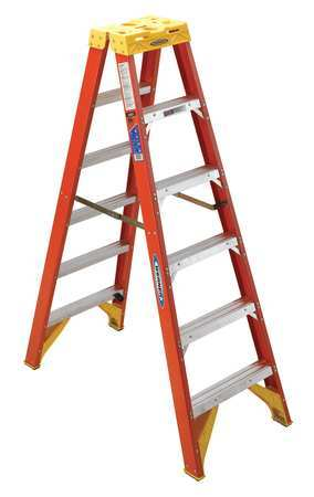 8' Fiberglass 300 lb. Twin Stepladder,  Type IA