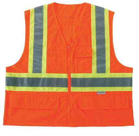 4XL/5XL Class 2 High Visibility Vest,  Orange