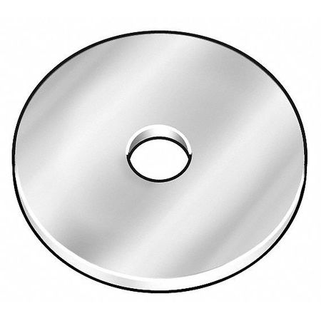 "1/2"" x 3"" OD Zinc Plated Finish Low Carbon Steel Large OD Thick Fender Washers,  5 pk."