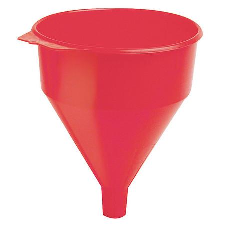 "Polyethylene, 6 qt., 10-1/2"", 1-5/16"", Red"