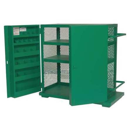"greenlee jobsite storage cabinet/tool box, 52""h, 48""w, 28""d, green ..."