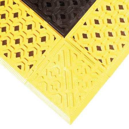 """Drainage Mat, Black wYlwBrdr, 2ft. 6""""x6ft."""