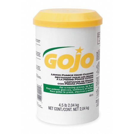GOJO Pumice Hand Soap, Lemon, Cartridge, 4.5lb