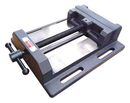 Drill Press Vise, Fixed Base, 6 in. Jaw W.