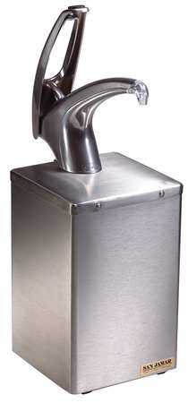 Condiment Pump with Box, Chrome, Stainless