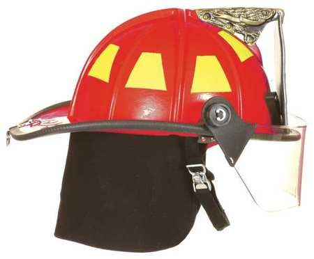 Fire Helmet, Red, Traditional