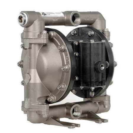 "1"" Stainless Steel Air Double Diaphragm Pump 52 GPM 200F"