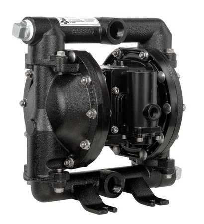 "1"" Cast Iron Air Double Diaphragm Pump 52 GPM 200F"