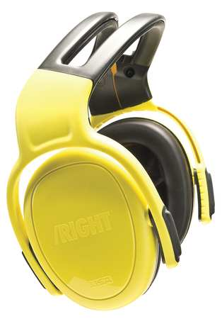 Ear Muff, 28dB, Headband, Yellow