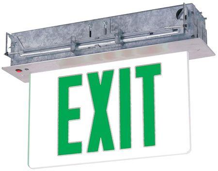 LUMAPRO Aluminum/Acrylic LED Exit Sign with Battery Backup