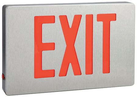 LUMAPRO Cast Aluminum LED Exit Sign with Battery Backup