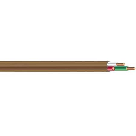 Thermostat Cable, 500ft, .12 Dia, Brown, CL2