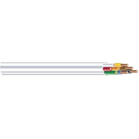 Thermostat Cable, 250ft, White, Gauge 18
