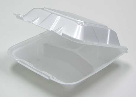 """Carry-Out Container, 9"""" W, White, PK150"""