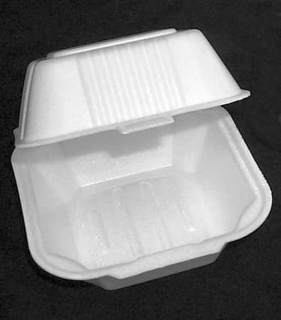 "Carry-Out Container, 5-3/4"" W, White, PK500"