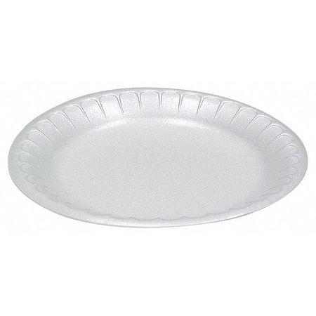 "Foam, Plate, Round, 8-7/8"", White, PK500"