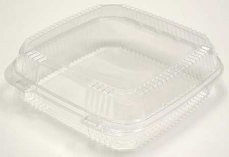 "Carry-Out Container, 9-1/4"" W, Clear, PK200"