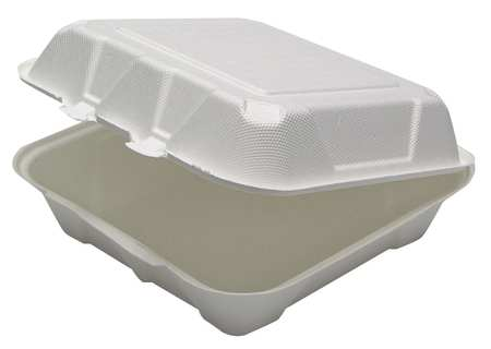 "Carry-Out Container, 9"" W, White, PK150"