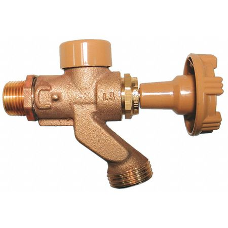 Anti-Siphon Hose Bibb, 1/2 In,  Brass