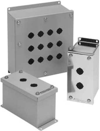 Pushbutton Enclosure, 22mm, 2 Holes, 304 SS