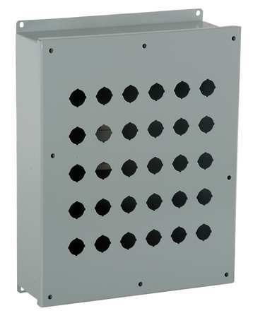 Pushbutton Enclosure, 22mm, 30 Hole, Steel