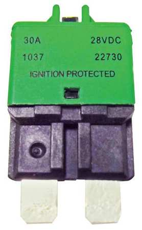 Automotive Circuit Breaker, CB227, 30A, 28V