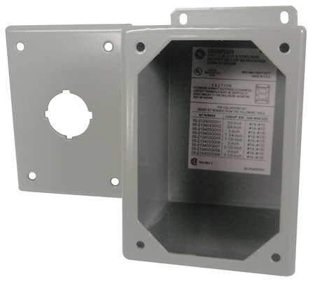 Pushbutton Enclosure, 13.37 in H, 4 Holes